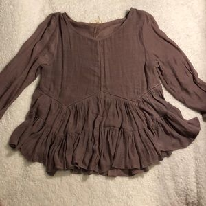 Mulberry Flowy Blouse